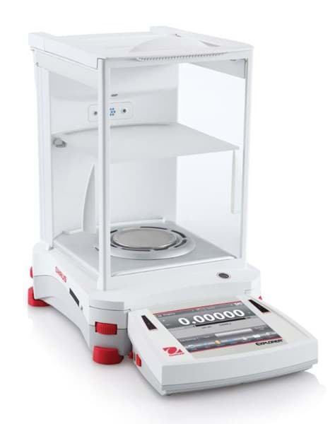 Picture of Ohaus EX125D Explorer Semi-Micro EX Series Analytical Balance, 51g/120g, 0.01mg/0.1mg