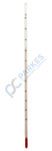 Picture of Precision Red Spirit Thermometer, -50 to 50°C, NIST Traceable