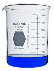 Picture of KIMAX® Low Form Griffin Beaker, 1500mL, Class A, Glass, Each