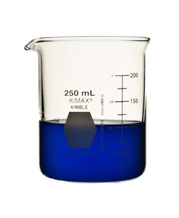 Picture of KIMAX® Low Form Griffin Beaker, 250mL, Class A, Glass, Each