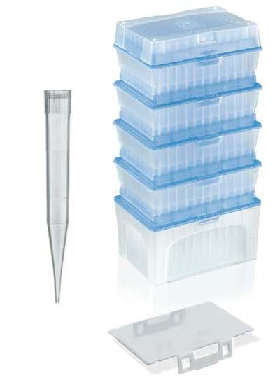 Picture of Standard Pipette Tips, 50 to 1000 µL, Sterile, Colorless, TipStack, 960 Each