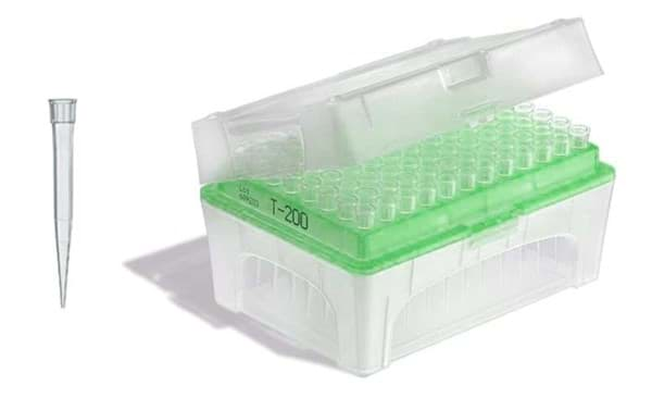 Picture of Standard Pipette Tips, 5 to 300 µL, Non-Sterile, Colorless, TipBox, 480 Each