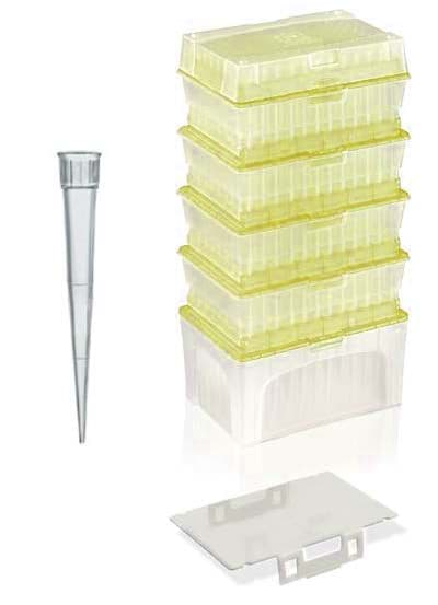 Picture of Standard Pipette Tips, 2 to 200 µL, Sterile, Colorless, TipStack, 960 Each