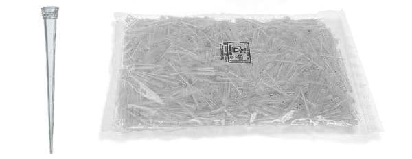 Picture of Standard Pipette Tips, 1 to 50 µL, Non-Sterile, Colorless, Bulk, 2000 Each