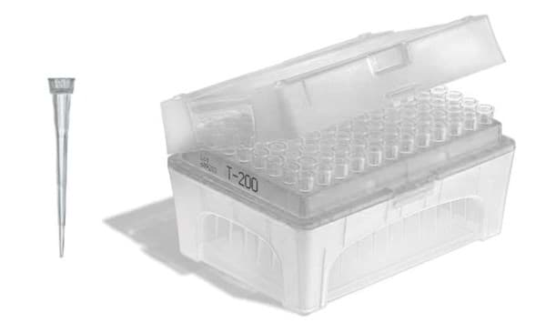 Picture of Standard Pipette Tips, 0.5 to 20 µL, Non-Sterile, Colorless, TipBox, 480 Each