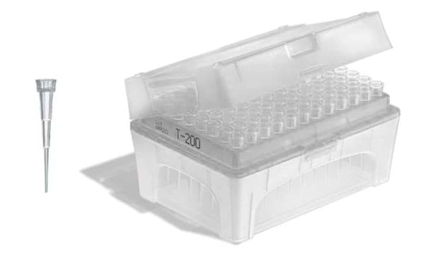 Picture of Standard Pipette Tips, 0.1 to 20 µL, Sterile, Colorless, TipBox, 960 Each