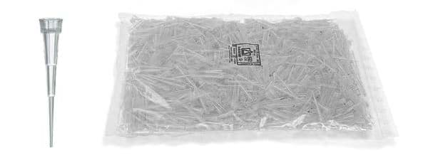 Picture of Standard Pipette Tips, 0.1 to 20 µL, Non-Sterile, Colorless, Bulk, 10000 Each