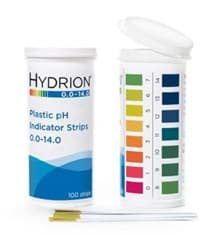 Picture of Hydrion™ #9800 Spectral 0.0-14.0 Plastic pH Indicator Strips