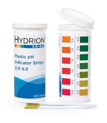 Picture of Hydrion™ #9200 Spectral 0.0-6.0 Plastic pH Indicator Strips