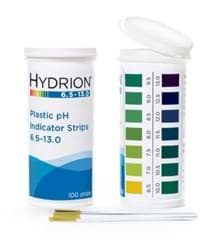 Picture of Hydrion™ #9600 Spectral 6.5-13.0 Plastic pH Indicator Strips