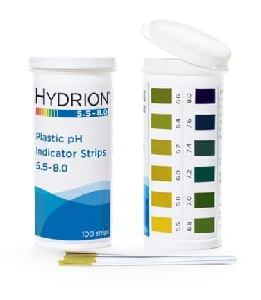 Picture of Hydrion™ #9700 Spectral 5.5-8.0 Plastic pH Indicator Strips
