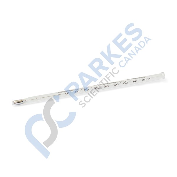 "Picture of Hard Shaker Type Maximum Thermometer, 5"" Length, Mercury-Filled, 90 to 260°C"