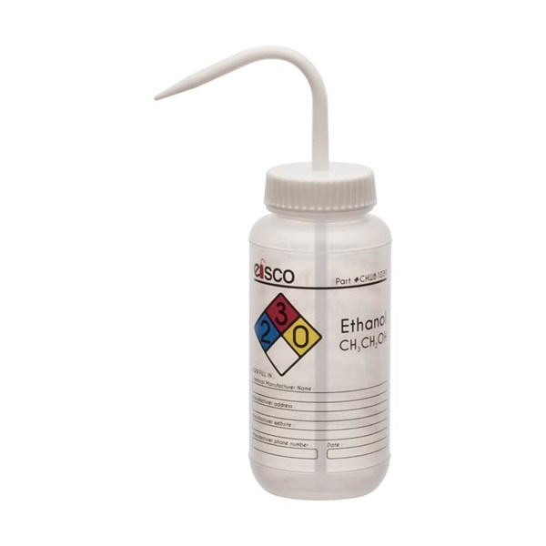 Picture of Performance Plastic Wash Bottle, Ethanol Labeling (4 Color), 500 mL