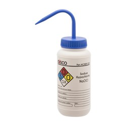 Picture of Performance Plastic Wash Bottle, Sodium Hypochlorite Labeling (4 Color), 500 mL