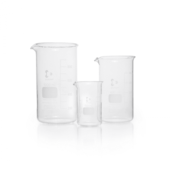 Picture of DURAN® High Form Berzelius Beakers, with Spout, Borosilicate Glass