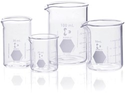 Picture of KIMAX® Low Form Griffin Beakers, with Spout, Borosilicate Glass