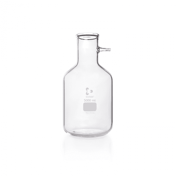 Picture of DURAN® Filtering Flasks, Bottle Shape, with Glass Hose Connection, Borosilicate Glass