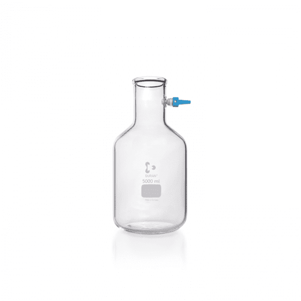 Picture of DURAN® Filtering Flasks, Bottle Shape, with KECK™ Assembly Set, Borosilicate Glass
