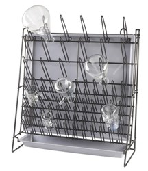 Picture of Wire Glassware Drying Rack, 90 Piece Capacity, with Drainage Tray
