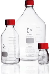 Picture of DURAN® Original Laboratory Bottles, with High Temperature Closures (Red), Borosilicate Glass