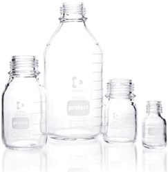 Picture of DURAN® Protect Laboratory Bottles, Plastic Coated, without Cap and Pour Ring, Borosilicate Glass