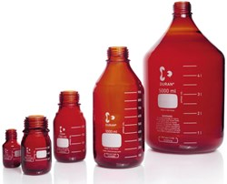 Picture of DURAN® Laboratory Bottles, Amber, without Cap and Pour Ring, Borosilicate Glass