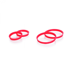 Picture of DURAN® GL Bottle High Temperature Pour Rings, ETFE, GL 32, Red