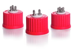 Picture of DURAN® Multiport Connector Caps, PBT, PTFE Insert, for GL 25 Threads
