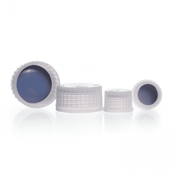 Picture of DURAN® Premium GL Bottle Screw Caps, PFA, PTFE Faced Silicone Liner, for GL Threads