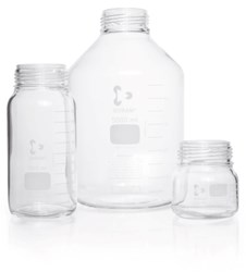 Picture of DURAN® GLS 80® Laboratory Bottles, Wide Mouth, without Screw Cap and Pour Ring, Borosilicate Glass