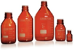 Picture of DURAN® PURE Laboratory Bottles, Amber, without Screw Cap and Pour Ring, Borosilicate Glass
