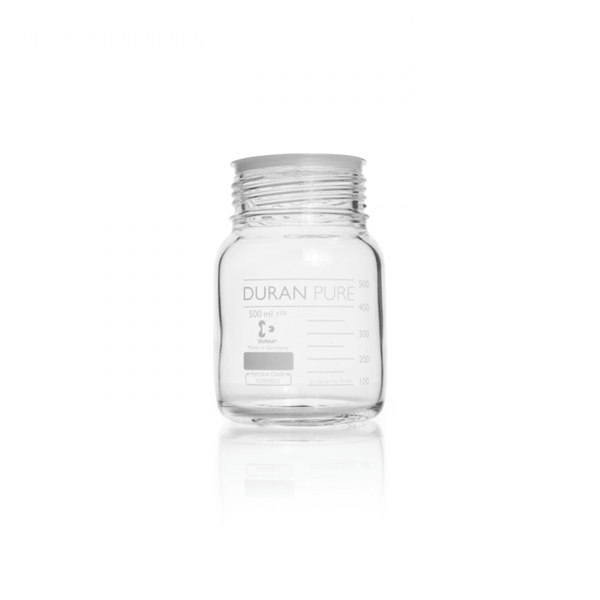 Picture of DURAN® PURE GLS 80® Laboratory Bottles, Wide Mouth, without Screw Cap and Pour Ring, Borosilicate Glass